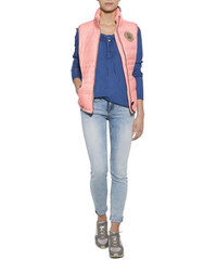 Světle růžová prošívaná vesta|L Soccx 490542