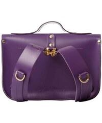 N'Damus LONDON Cartable en Cuir Violet - Purple