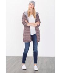 Esprit Lehký prošívaný kabát s kapucí