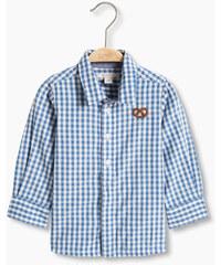 Esprit Károvaná košile s preclíkem, 100% bavlna