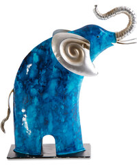 MIA dekorativní soška SLON modrý 26x9x30 cm Mybesthome