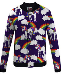Mr. GUGU & Miss GO Baseball Jacket Unicorns Pattern