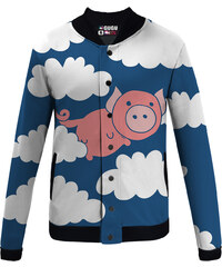 Mr. GUGU & Miss GO Baseball Jacket When Pigs Fly