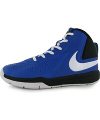 Basketbalové boty Nike Team Hustle D7 Hi Top dět. královská modrá/bílá