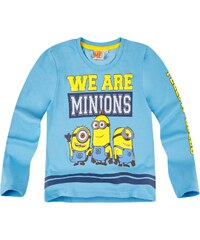 Minions Langarmshirt blau in Größe 116 für Jungen aus 60 % Baumwolle 40 % Polyester