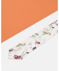 Ted Baker Seidentuch mit floralem Print Weiß