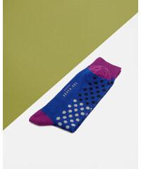 Ted Baker Gepunktete Socken in Blockfarben Blau