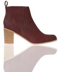 Boots chelsea surcoutures Rouge Synthetique (polyurethane) - Femme Taille 37 - Cache Cache