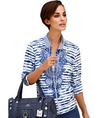 Tričkový kabátek Just White modrá-bílá