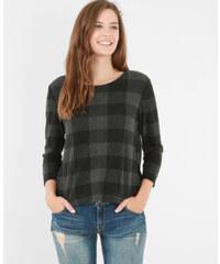 T-shirt carreaux vichy gris, Femme, Taille L -PIMKIE- MODE FEMME