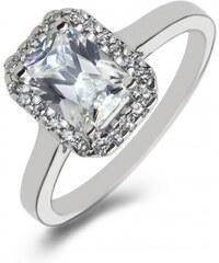 Eppi Platinový zásnubní prsten s emerald diamantem Valma