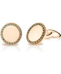 Eppi Manžetové knoflíčky z růžového zlata s modrými diamanty Valin