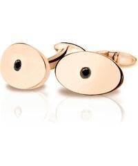 Eppi Manžetové knoflíčky z růžového zlata s černými diamanty Tamir