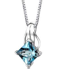 Eppi Stříbrný náhrdelník s princess topazem Maline