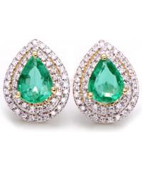Eppi Smaragdové náušnice s diamanty Sarani - Glami.cz 66ca7144b47