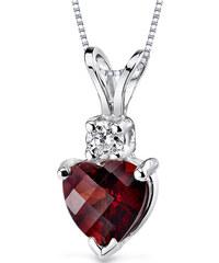 Eppi Zlatý náhrdelník s granátem a diamantem Kiarah
