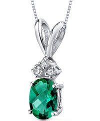 Eppi Smaragdový zlatý náhrdelník s diamanty Sintia