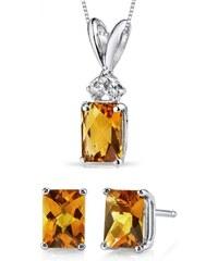 Eppi Zlatá kolekce šperků s citríny a diamanty Loree
