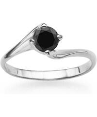 Eppi Zásnubní prsten s černým diamantem Haria