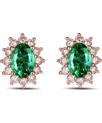 Eppi Zlaté smaragdové náušnice s diamanty Mariell
