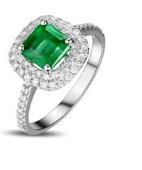 457c7dc9a72 Eppi Zlatý diamantový prsten s kolumbijským smaragdem Iggy