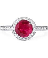 Eppi Zásnubní prsten plný vášně s rubínem a diamanty Tvisha