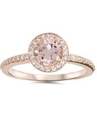 Eppi Sladký zásnubní prsten z růžového zlata s morganitem Suhina