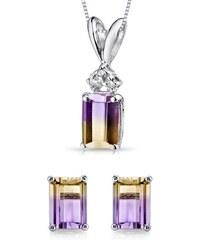 Eppi Zlatá kolekce s ametríny a diamanty Elzina