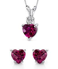 Eppi Zlatá kolekce se srdíčkovými rubíny a diamanty Halen