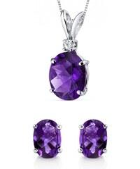 Eppi Zlatá ametystová kolekce s diamantem Ambri