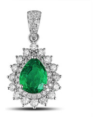 Eppi Luxusní smaragdový přívěšek s diamanty Lacole