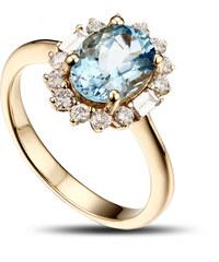 Eppi Akvamarínový prsten s diamanty Sajani