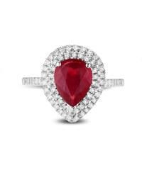 Eppi Zlatý prsten s rubínem a diamanty Jaishree