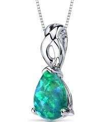 Eppi Stříbrný přívěsek s opálovou kapkou Shrimati