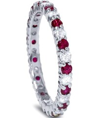 Eppi Zlatý prsten vykládaný rubíny a diamanty Sagar