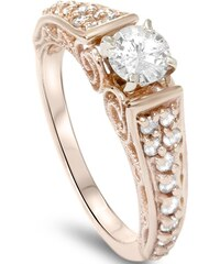 Eppi Zlatý vintage zásnubní prsten plný diamantů Keran