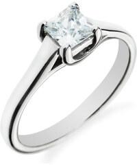 Eppi Zlatý zásnubní prsten s čtvercovým diamantem Tamalika