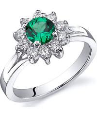 Eppi Smaragdový květ ve stříbrném prstenu Mrinalika