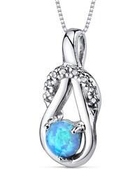 Eppi Opálový náhrdelník ze stříbra se zirkony Sanwari