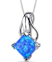 Eppi Stříbrný náhrdelník s opálem Mythily