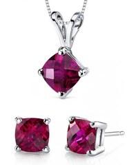 Eppi Elegantní rubínová kolekce šperků ze zlata Sherry