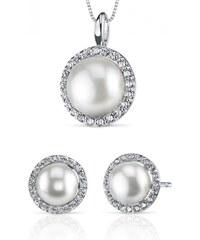 Eppi Stříbrná kolekce s perlami a zirkony Cala