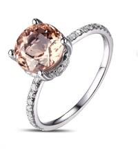 Eppi Zásnubní prsten s morganitem a diamanty Annis