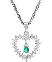 Eppi Diamantové srdce se smaragdem v náhrdelníku Khloe