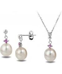 Eppi Zlatá perlová kolekce se safíry Deadra