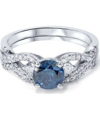 Eppi Luxusní set prstenů s výrazným modrým diamantem Alisa