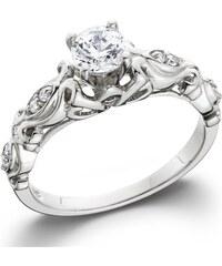 Eppi Vintage zásnubní zlatý prsten s diamanty Kassidie