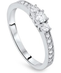 Eppi Zásnubní prsten s trojicí diamantů Jenay