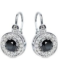 Eppi Zlaté náušnice s černými a bílými diamanty Claira d4da95562a4
