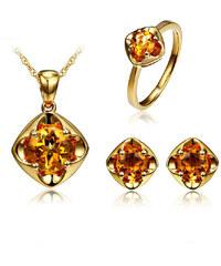 Eppi Zlatá souprava tří šperků s citríny Abrielle